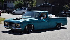 "1973 Mazda B1800 pickup ""Lowrider"" (Custom_Cab) Tags: 1973 mazda b1800 b 1800 pickup truck series bseries custom lowrider low rider blue pick up"
