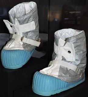 American Apollo mission astronaut boots