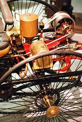 Very early automobile (mkk707) Tags: film wwwmeinfilmlabde analog leicar3 leicasummicronr90mm itsaleica vintagelens vintagefilmcamera vintagecar oldtimer 35mmfilm fujifilmsuperiaxtra800 technoseum mannheim germany germancameras
