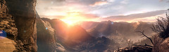 Syrian Sunset (D U B L) Tags: rise tomb raider crystal dynamics eidos montréal north syria pano panorama square enix rottr 4k the prophets syrian cliffs