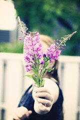 169/365: Flowers for you 😍 (Liv Annette) Tags: flower daughter 365 365project color pink portrait norway norge summer rogaland scandinavia canon 50mm