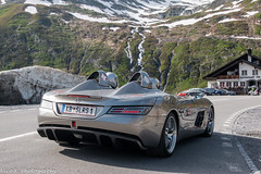 SLR Stirling Moss (Nico K. Photography) Tags: mercedesbenz slr mclaren stirling moss rare hypercar silver view mountains snow nicokphotography switzerland oberalppass
