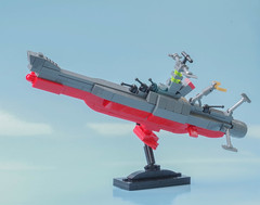 Desktop Space Battleship Yamato (Tino Poutiainen) Tags: lego legomoc legobuild miniscale microscale moc machine scale scifi space ship stand yamato battle anime japan desktop star blazers photograph photography picture display fol creation craft action