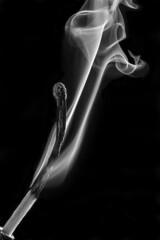 Extinguished (Lee Galashan) Tags: canon 100mml macro match smoke burned smoulder smouldering smoking mono godox