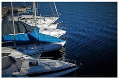 Felice fine settimana a tutti (ornella sartore) Tags: lago barche blu colori particolari allaperto