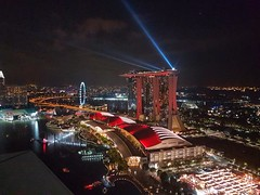 Light show (Whistler Whatever) Tags: vacation asia southeast singapore bright night lights buildings city view