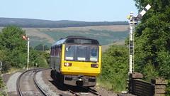 Pacer passing Edale's semaphores (Steel Rails) Tags: edale derbyshire peak district hope valley line railway train diesel