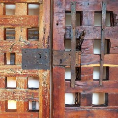 in the jailhouse now (msdonnalee) Tags: ignacioallende jailhouse jail carcel door jailhousedoor mexico mexiko mexique mexicanhero madera woodendoor historicdoor incarceration hoosegow thelockup theslammer lock underlockandkey casaallende cooler clink gaol jailcell ironwork