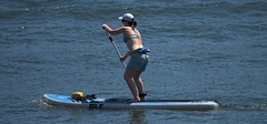 Paddling (Scott 97006) Tags: woman female lady exercise paddle paddleboard river h₂o water oar