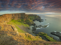 Giant's Causeway, 'Hamilton's Seat' (W.G. Photography) Tags: giants causeway countyantrim northernireland uk sunset cliff clouds colours sky skyline view viewpoint nature natural