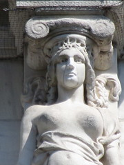 Mysterious Woman Dame Summer Caryatid NYC 5413 (Brechtbug) Tags: mysterious woman dame summer caryatid stone ladies courthouse roof statues across from madison square park new york city atlantid 2018 nyc 07152018 art architecture gargoyle gargoyles statue sculpture sculptures facade figures column columns court house law government building lady women figure form far east buildings season seasons fall