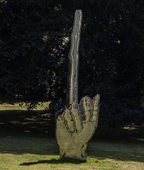 Fuck You (michael_hamburg69) Tags: schleswigholstein büdelsdorf carlshütte kunst art nordart 2018 artist künstler stainless steel davidčerný fuckyou sculpture skulptur hand mittelfinger middlefinger geste gesture