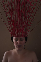 Out of my head (Federkiel Fotografie) Tags: selfportrait red wool fineart fineartphotography surreal surrealphotography emotional thoughts tangled federkiel bound stroytelling
