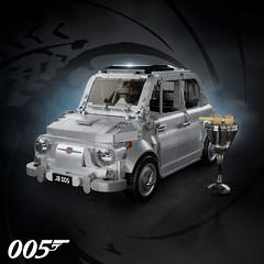Fiat DB500 - Agent 005 (gabriele.zannotti) Tags: lego fiat 500 james bond 005 007 db5 db500 licencetobuild