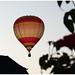 Hot air balloon over Duisburg