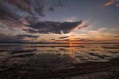 Low tide evening light (LEXPIX_) Tags: sunset lake champlain water adk low tide level clouds sun wide angle view nikon d850 nikkor 1424 28 lexpix