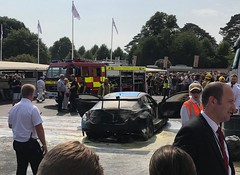 Burnt Out Lexus (Marc Sayce) Tags: fire engine burned burnt car race lexus goodwood festival speed fos friday july 2018