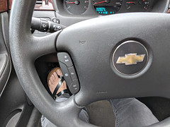 Chevy Impala (at work) 05-29-18 (MelenaMe) Tags: chevy impala chevyimpala working atwork driving car vehicle fastcar fast drive dashboard
