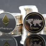 Ethereum Ripple Crypto Coin Stock Photo thumbnail