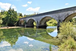 Croatia, Lešće - Old bridge over river Dobra