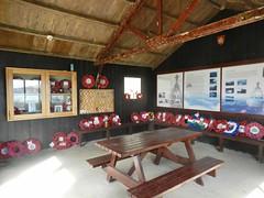 HMS Royal Oak Memorial Hut Interior, Scapa Beach, Orkney Islands, June 2018 (allanmaciver) Tags: memorial wreaths men remember war royal oak bench poignant information sit quiet scapa flow october 1939 disaster allanmaciver
