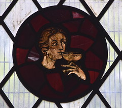 man drinking from a cup (14th Century) (Simon_K) Tags: weldon corby northants northamptonshire