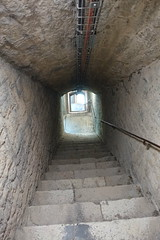 Underground gallery @ Stairs to lower fort @ Fort l'Écluse (*_*) Tags: bellegardesurvalserine bellegarde france 01 europe ain june 2018 summer été hike hiking randonnée marche jura nature mountain sunny afternoon fortl'ecluse fort fortress leaz stairs escalier upperfort gallery gallerie superieur fortsuperieur lowerfort underground