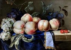 IMG_2378G Paul Liégeois. Actif à Paris vers 1650-1670 Nature morte aux pêches. Still life with peaches. Rouen Musée des Beaux Arts. (jean louis mazieres) Tags: peintres peintures painting musée museum museo france normandie rouen muséedesbeauxarts
