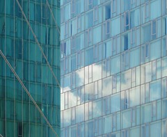 Illusion And Reality (nrg_crisis) Tags: clouds windows abstractarchitecture reflections nyc building architecture chelsea