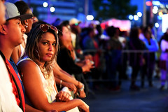 Waiting Fi Di Main Act (Anthony Mark Images) Tags: people portrait candid bigearrings sunglasses blondehair gates waiting crowd concert anticipation eyecontact prettygirl caribbeanfestival iriemusicfestival2018 socamusic mississauga ontario canada nikon d850