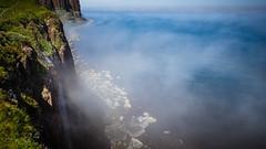 mealt falls & kilt rock - isle of skye - scotland (laughlinc) Tags: isleofskye nikon waterfall scotland mealtfalls nikond7200 kiltrock fog laughlinc nikon1755mm24