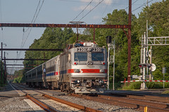 SEPTA #6378 @ Yardley, PA (Darryl Rule's Photography) Tags: 2018 aem7 buckscounty catenary edgewoodrd electric express july outbound pa passenger passengertrain pennsylvania railroad railroads septa station summer sun sunny traian trains westtrentonline yardley