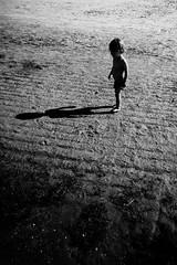 time (Eva.K.) Tags: boy sand beach evening shadow
