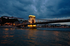Storm over Budapest (AgarwalArun) Tags: sony a7m2 sonyilce7m2 landscape scenic nature views europe centraleurope hungary budapest danube river hungarian night reflection chainbridge széchenyichainbridge