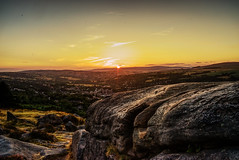 Sunset over Ilkley Moor (EricMakPhotography) Tags: