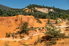 Colorado Provencal Landscape (Luca Quadrio) Tags: stone france natural landscape yellow canyon sandstone rustrel mediterranean outdoor travel hill orange red tourism provence blue summer rock tree geology sand scenic colorado landmarks provencal outdoors europe color nature