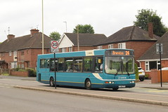 AMN 3721 @ Wharf Road/Main Road, Rugeley (ianjpoole) Tags: arriva midlands vdl sb200 wright commander fj06ztg 3721 the church mouse chadsmoor working route 24 five oaks estate brereton rugeley bus station