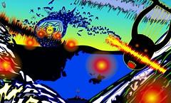 Celeste Enter (jjfbbennett) Tags: jjfb jjfbbennett battleroyale dream nightmare art artist illustration landscape waves gimp inkscape celeste survival