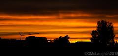 Sunset (GWMcLaughlin) Tags: sunset sky 18135mm canon 70d silhouette crane yellow orange dusk glasgow skyline