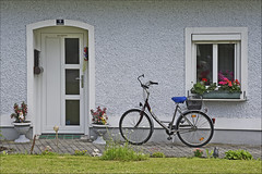 Nr. 1 Engelszell (Runemaker) Tags: door tür window fenster house haus architecture architektur façade bicycle fahrrad flowers blumen engelhartszell austria österreich upperaustria oberösterreich