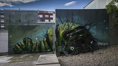 Trasherpillar (ponzoñosa) Tags: grafitti bordalo lisbon carballo costa morte art urban arte urbano wall rexenera muros paint pintura