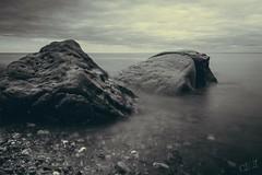 Long expo ocean (corineouellet) Tags: landscape nature quebec canonphoto canon canoncanada canada matane atlantic sea ocean longueexposition longexposure longexpo blackandwhite bnw