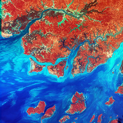 Guinea-Bissau, a small country in West Africa. Original from NASA. Digitally enhanced by rawpixel.