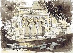 Ruinas en Medina Azahara (P.Barahona) Tags: ruinas rural medina sepia arcos columnas