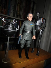 Grand Moff Tarkin with Death Star Droids Star Wars 4043 (Brechtbug) Tags: peter cushing grand moff tarkin with death star droid k2so or kaytuesso interrogation wars action figure toy toys villain villains 1964 1960s 60s 1977 1970s 70s movie film science fiction scifi spy adventure hot forbidden planet comics store nyc 2018 comicbook rogue one a new hope