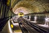 Photo of Train Track Subway - Credit to http://homedust.com/ (Homedust) Tags: architecture berlin blur brutalist bvg circle concrete creepy curve dark empty indoors industry infrastructure light lights line locomotive metro perspective pillars platform public transportation railroad track railway speed station steel still subway system train tracks travel tube tunnel ubahn underground yellow