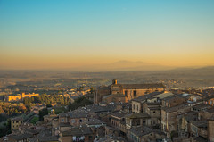 Siena from above (brancatiarianna) Tags: siena above view landscape panorama sunset lights beautiful nikkor lens nikon d5100