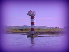 VHF 12 (Rollingstone1) Tags: kerrera island mast beacon radio vhf marine oban scotland seascape land hills sky rocks trees water sea outdoor art artwork landscape bay mountain