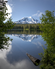Adams over Takhlakh (TW Olympia) Tags: takhlakh lake mount adams reflection trees mountain volcano snow clouds sky