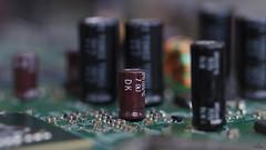 Inside Electronics (HMM).... (Piet photography) Tags: condensator motherboard computer components macromondays insideelectronics hmm